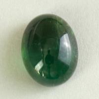 Голубовато-зелёный турмалин кабошон овал, вес 5.41 карат, размер 11.7х9мм (turm0549)