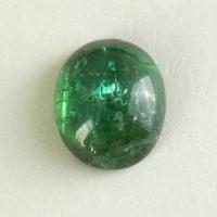Зелёный турмалин кабошон овал, вес 2.8 карат, размер 9.8х8.1мм (turm0552)