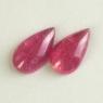 Пара розовых турмалинов формы кабошон груша, вес 5.9 карат, размеры 13.4х7.8 и 13.8х7.7мм (turm0556)