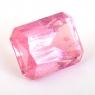 Светло-розовый забайкальский турмалин формы октагон, вес 12.63 карат, размер 15х11.7мм (turm0603)