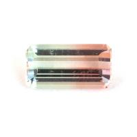 Арбузный турмалин формы октагон, вес 1.57 карат, размер 9.4х4.8мм (turm0609)