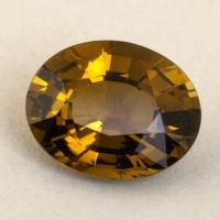 Желто-зелёный турмалин формы овал, вес 3.53 карат, размер 11.5х9.2мм (turm0622)