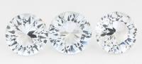 Комплект бесцветных топазов отличной российской огранки формы круг, общий вес 11.79 карат, размер 10х10мм (winetop0057)