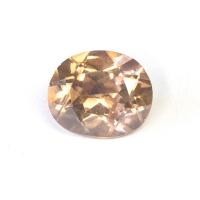 Светло-коричневый циркон овал вес 2.85 карат, размер 7.4х8.8мм (zircon0068)