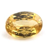 Жёлтый циркон овал вес 3.28 карат, размер 9.9х7мм (zircon0082)