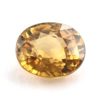 Жёлтый циркон овал вес 3.47 карат, размер 9х7.5мм (zircon0083)
