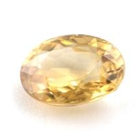 Жёлтый циркон овал вес 3.41 карат, размер 9.9х7.3мм (zircon0084)