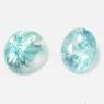 Пара голубых цирконов формы круг, общий вес 2.15 карат, размер 5.7х5.7мм (zircon0096)