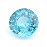 Светло-голубой циркон (старлит) круг вес 1.63 карат, размер 6.7х6.6мм (zircon0105)