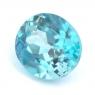 Голубой циркон (старлит) овал вес 2.47 карат, размер 8х7мм (zircon0109)