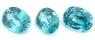 Комплект голубых цирконов формы овал, общий вес 5.23 карат, размер 8.1х6.1мм (zircon0112)