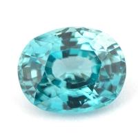 Циркон голубой (старлит) овал вес 2.32 карат, размер 8.4х6.6мм (zircon0113)