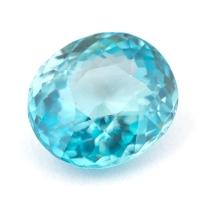Циркон голубой (старлит) овал вес 2.45 карат, размер 8.2х7.3мм (zircon0114)
