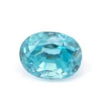 Циркон голубой (старлит) овал вес 1.86 карат, размер 6.8х5.2мм (zircon0115)