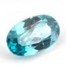 Голубой циркон формы овал, вес 3.17 карат, размер 10.9х6.7мм (zircon0144)