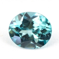 Голубой циркон формы овал, вес 2.82 карат, размер 9х7.7мм (zircon0145)
