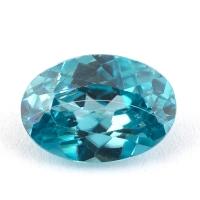 Голубой циркон формы овал, вес 2.51 карат, размер 9.5х6.7мм (zircon0146)