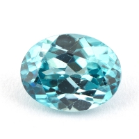Голубой циркон формы овал, вес 2.66 карат, размер 8.9х6.9мм (zircon0148)