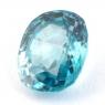 Голубой циркон формы овал, вес 3.62 карат, размер 9.4х7.8мм (zircon0150)