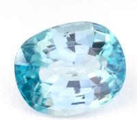 Голубой циркон формы овал, вес 3.91 карат, размер 9.7х7.5мм (zircon0151)