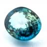 Голубой циркон (старлит) овал, вес 15.22 карат, размер 15.6х12.5мм (zircon0156)