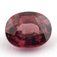 Розовато-красный циркон формы овал, вес 2.57 карат, размер 8.8х7.1мм (zircon0170)