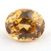 Желтый циркон формы овал, вес 7.14 карат, размер 11.9х9.8мм (zircon0172)