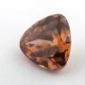 Оранжевато-коричневый циркон формы триллион, вес 5.1 карат, размер 10х9.9мм (zircon0174)
