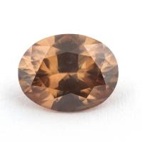 Светло-коричневый циркон формы овал, вес 3.21 карат, размер 9.9х7.7мм (zircon0175)
