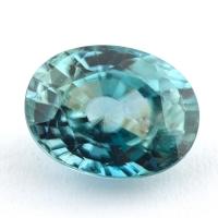 Голубой циркон (старлит) овал, вес 4.55 карат, размер 10.4х8мм (zircon0176)