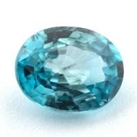 Голубой циркон (старлит) овал, вес 3.93 карат, размер 10х8мм (zircon0177)