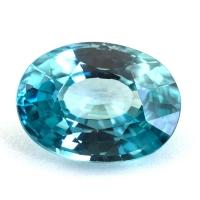 Голубой циркон (старлит) овал, вес 4.76 карат, размер 11.5х8.5мм (zircon0181)