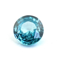 Голубой циркон (старлит) круг, вес 1.78 карат, размер 7.3х7.3мм (zircon0182)