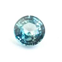 Голубой циркон (старлит) круг, вес 2 карат, размер 7.1х7.1мм (zircon0184)