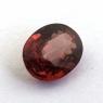 Розовато-коричневый циркон формы овал, вес 1.65 карат, размер 7.7х6мм (zircon0187)