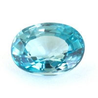 Голубой циркон формы овал, вес 6.88 карат, размер 11.7х8.9мм (zircon0193)